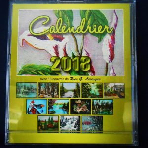 Calendrier 2018, dans un boitier CD